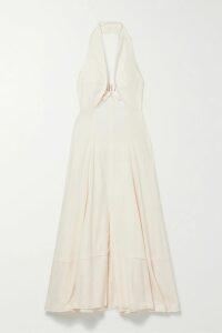 Charo Ruiz - Heart Crocheted Lace-paneled Cotton-blend Voile Maxi Dress - Black