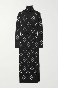 Gucci - Pleated Printed Silk-twill Midi Skirt - Red