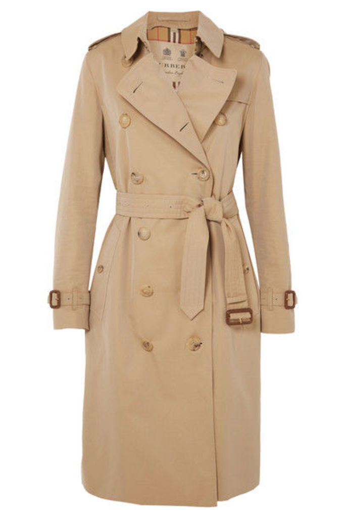 Burberry - The Kensington Long Cotton-gabardine Trench Coat - Beige
