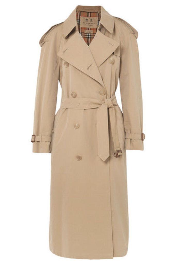 Burberry - The Westminster Long Cotton-gabardine Trench Coat - Beige