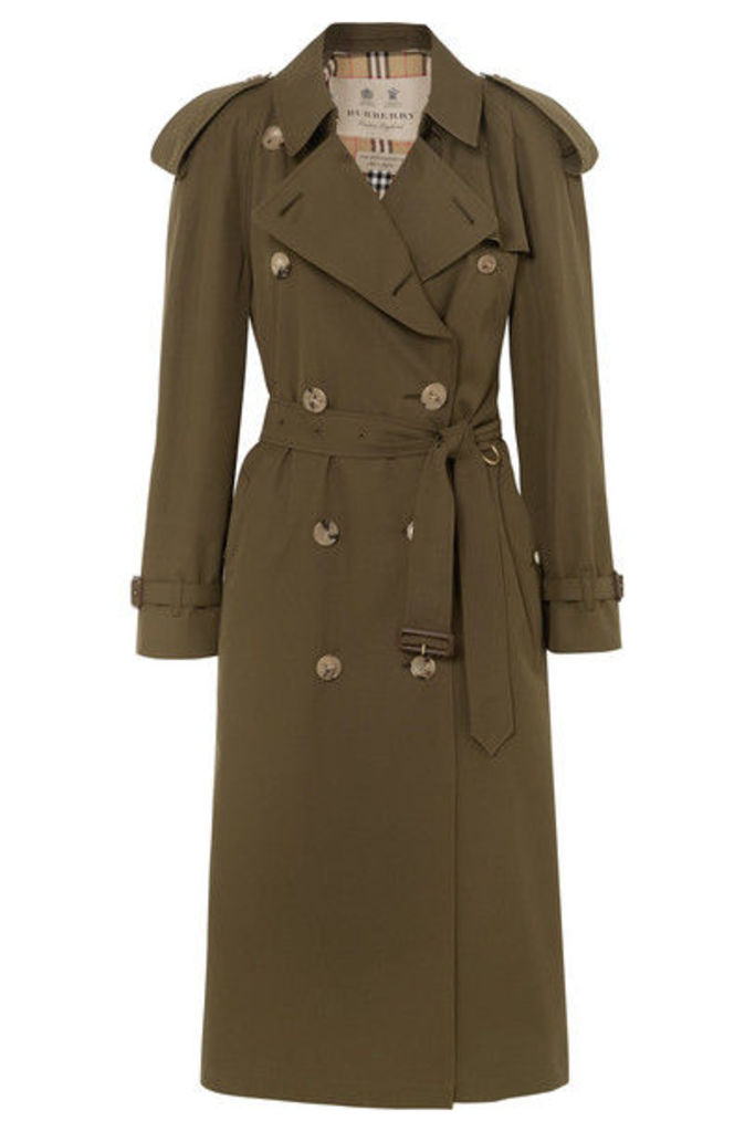 Burberry - The Westminster Long Cotton-gabardine Trench Coat - Army green