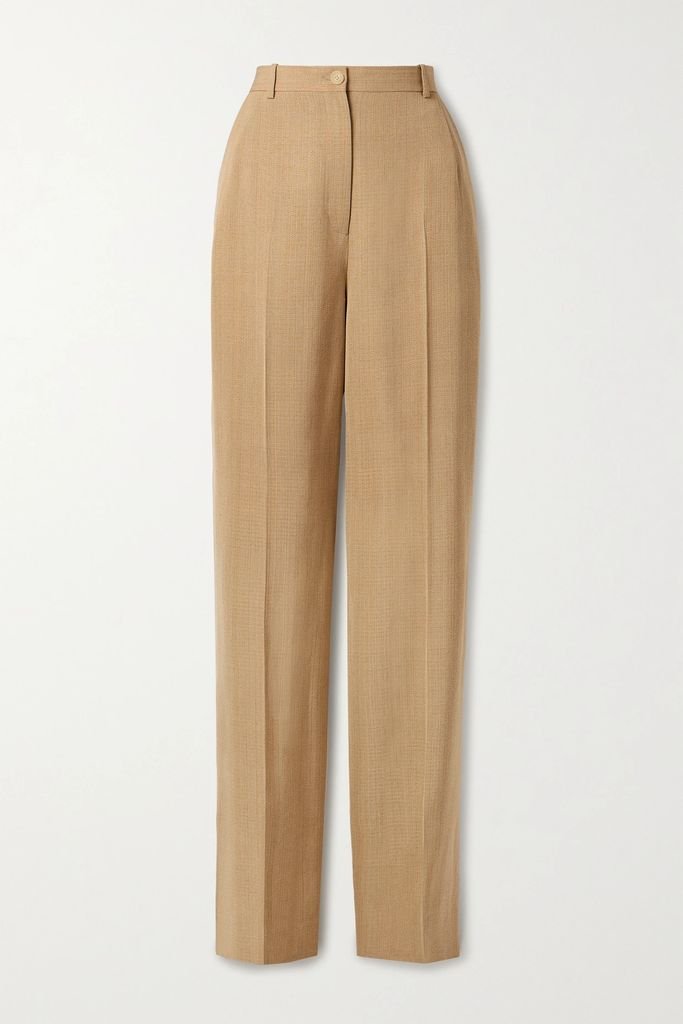 Gucci - Bow-detailed Sequined Silk-georgette Midi Dress - Gold
