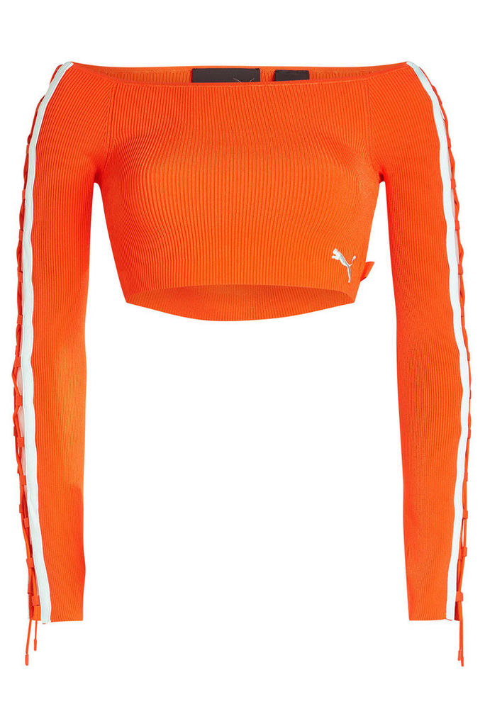 FENTY Puma by Rihanna Off The Shoulder Cropped Pullover
