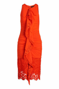 Proenza Schouler Ruffled Dress with Lace