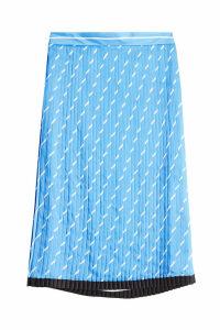 Victoria Victoria Beckham Pleated Midi Print Skirt