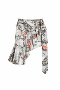Marques' Almeida Wrap Frill Printed Skirt