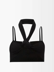 Kwaidan Editions - Rubbish Tie Waist Vinyl Trench Coat - Womens - Black