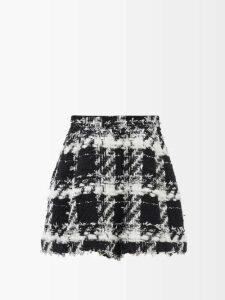 Junya Watanabe - Gathered Detail Camouflage Print Woven Dress - Womens - Green Multi