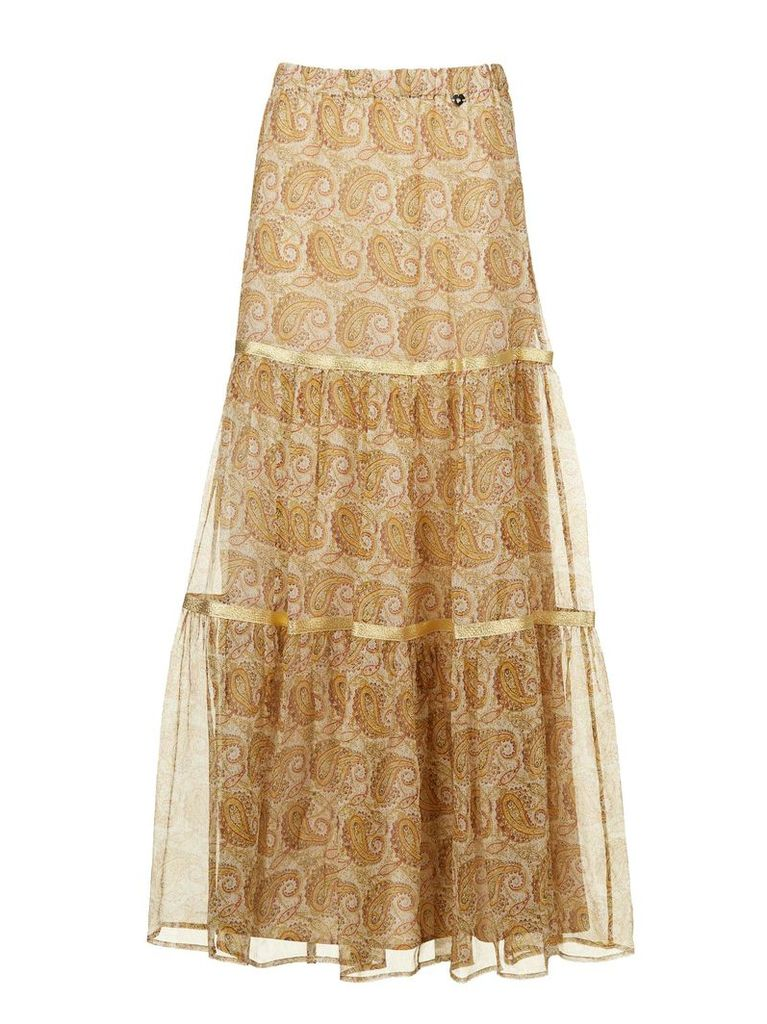 Twinset Paisley Print Maxi Dress