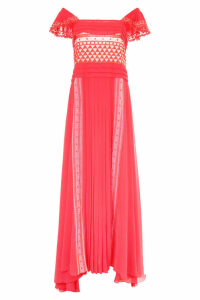 Philosophy di Lorenzo Serafini Long Dress With Lace Inserts