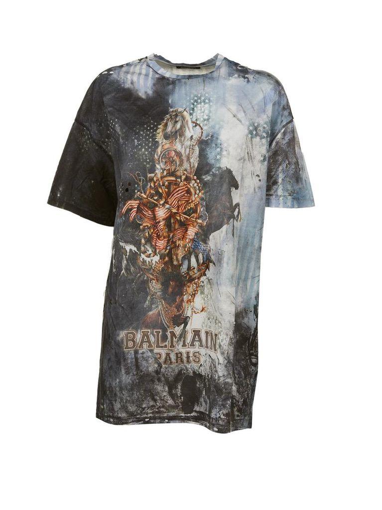 Balmain Bleached Effect T-shirt