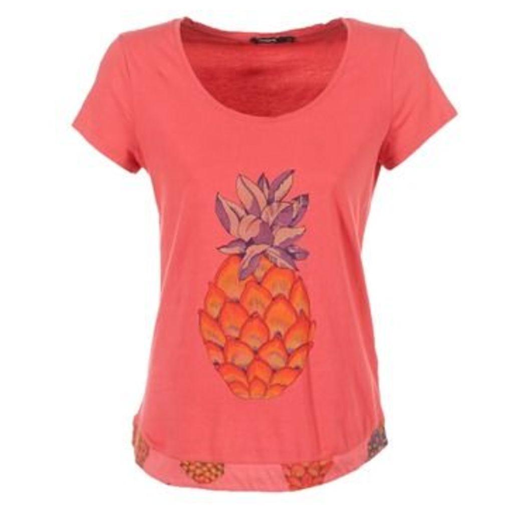 Desigual  YUTO  women's T shirt in Pink