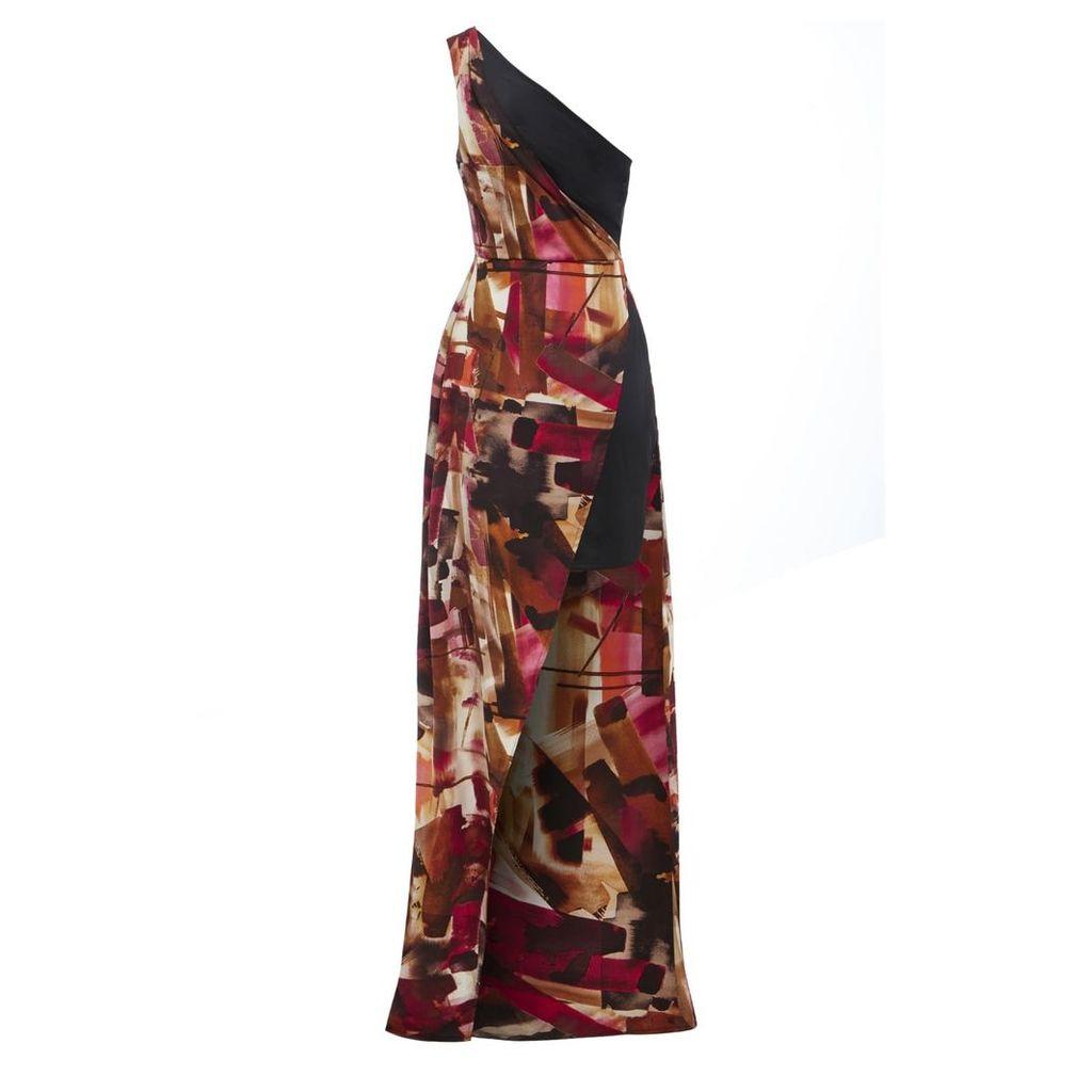 Sarvin - Claret One Shoulder Dress