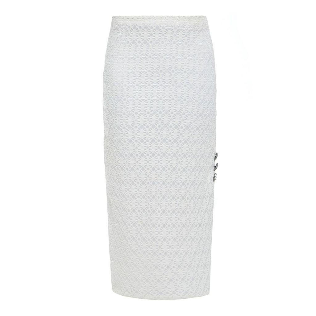 Sarvin - Ciara Pencil Lace Midi Skirt