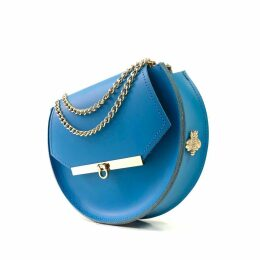 Angela Valentine Handbags - Loel Military Bee Circle Bag In Nebulas Blue