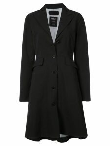 Yang Li single breasted flared coat - Black