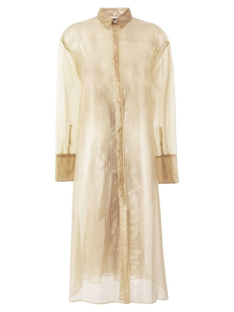 Jil Sander single breasted raincoat - Neutrals
