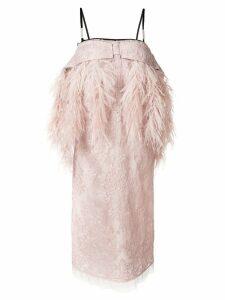 Nº21 lace shift dress - Neutrals