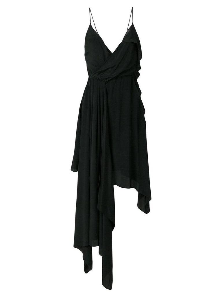 Off-White draped princess dress - Black