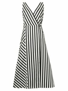Anna October striped midi dress - Black