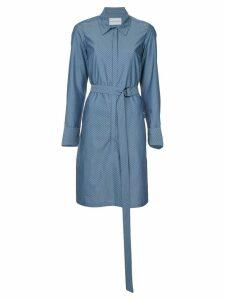 Strateas Carlucci Hybrid striped shirt dress - Blue
