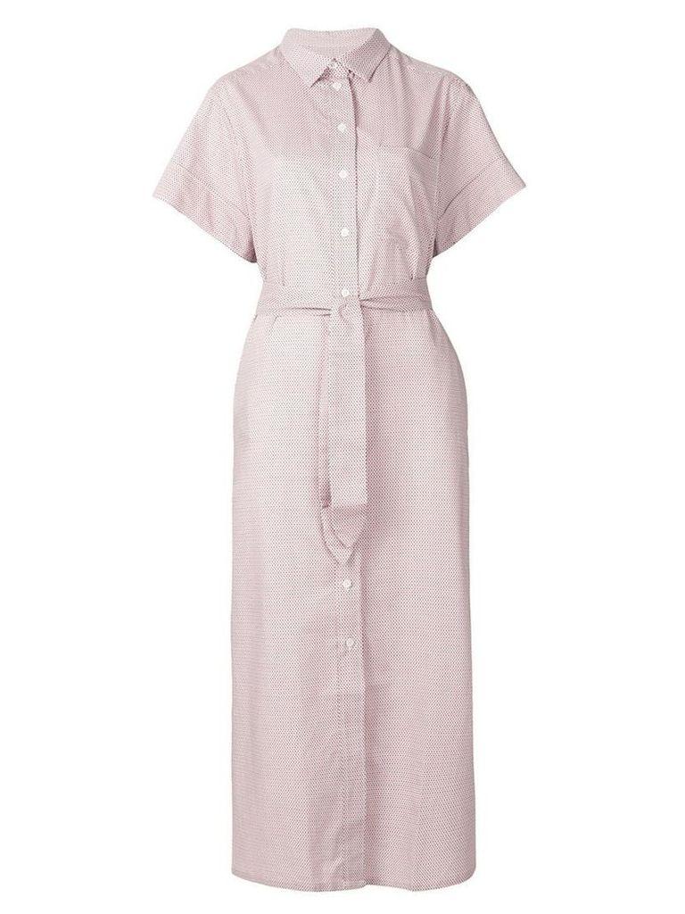 Maison Kitsuné long flared shirt dress - Multicolour