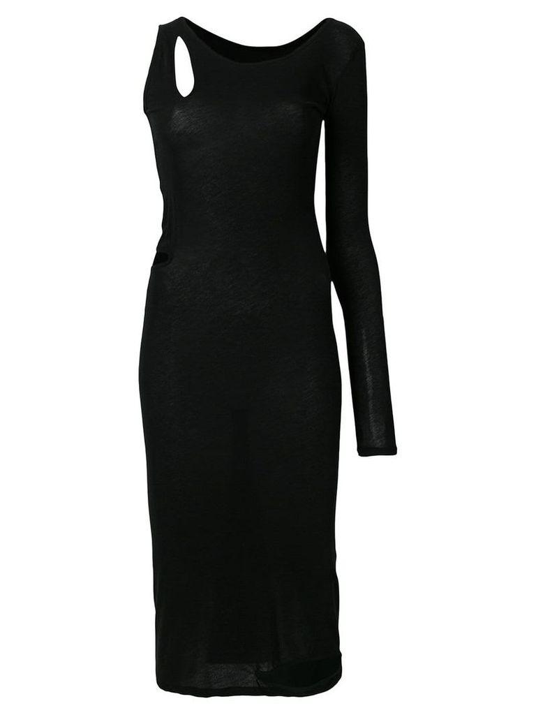 Yohji Yamamoto cutout one shoulder dress - Black