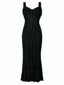 Dolce & Gabbana lace-up long corset dress - Black