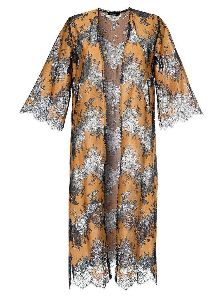 Loveless lace kimono - Blue