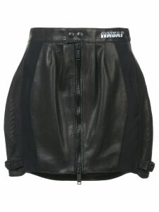 Unravel Project perforated mini skirt - Black