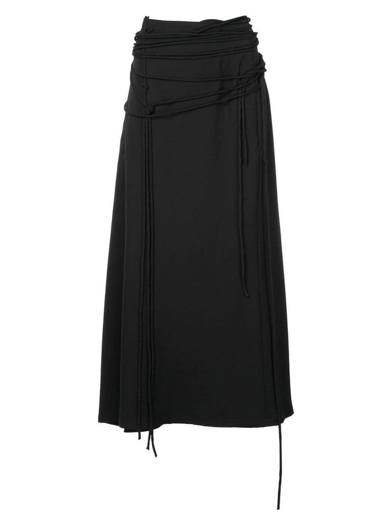 Yohji Yamamoto strap high waist skirt - Black