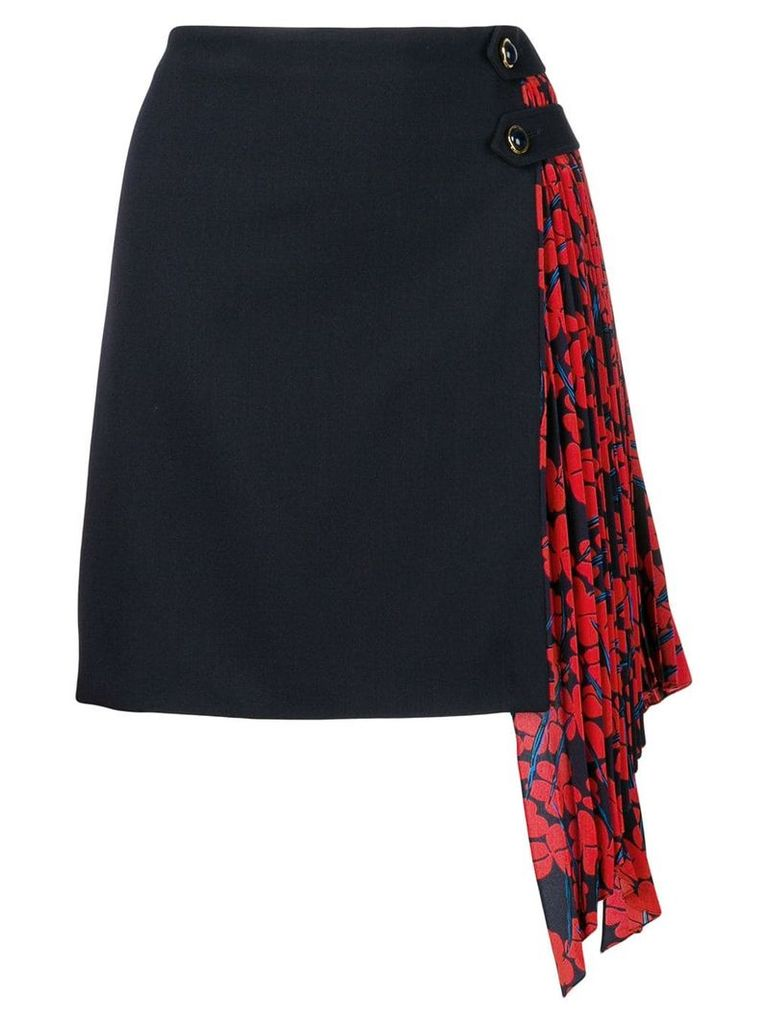 Givenchy pleated panel skirt - Blue