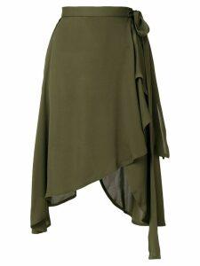 JW Anderson wrap style asymmetric hem skirt - Green