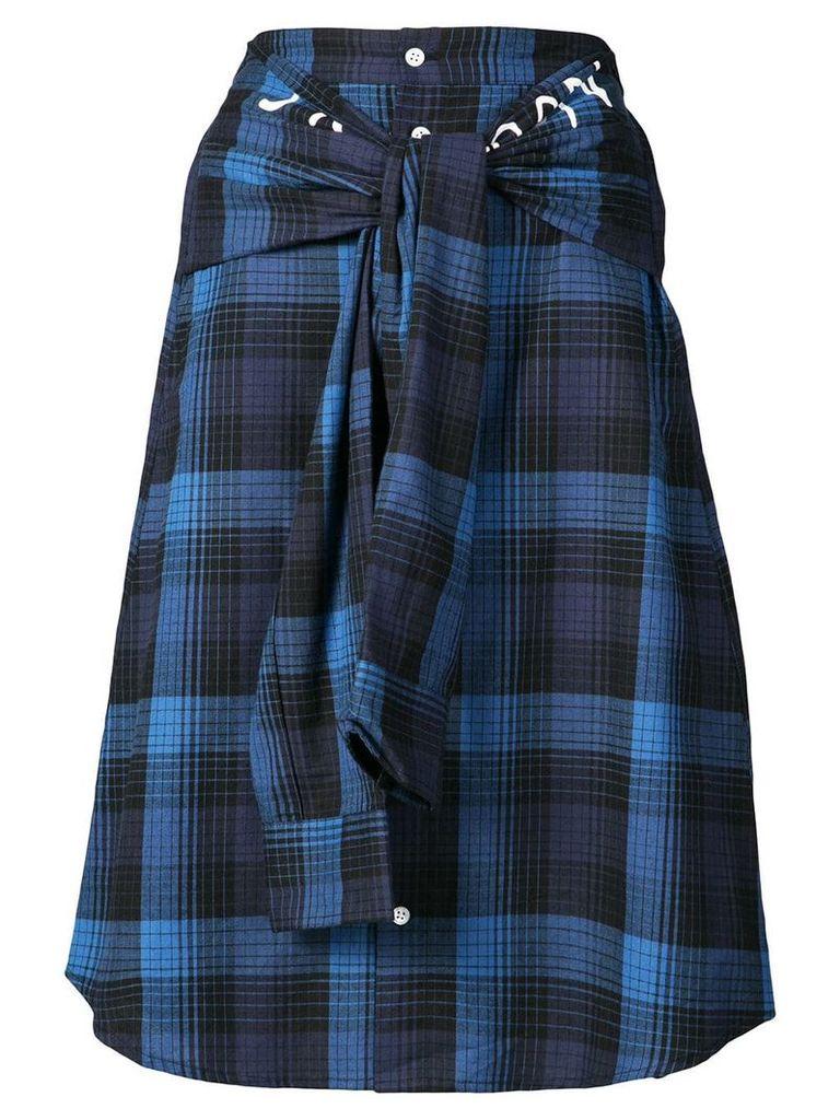 Haculla plaid shirt skirt - Blue
