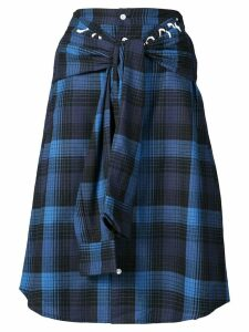 Haculla plaid shirt skirt - Blue