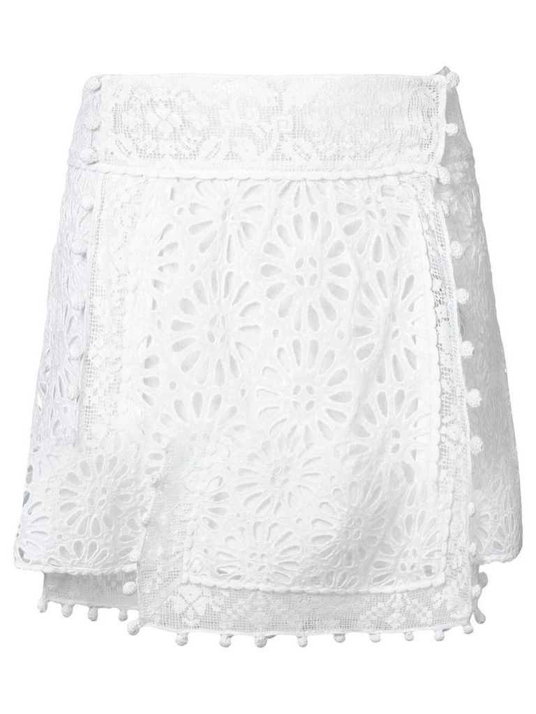 Isabel Marant embroidered lace skirt - White