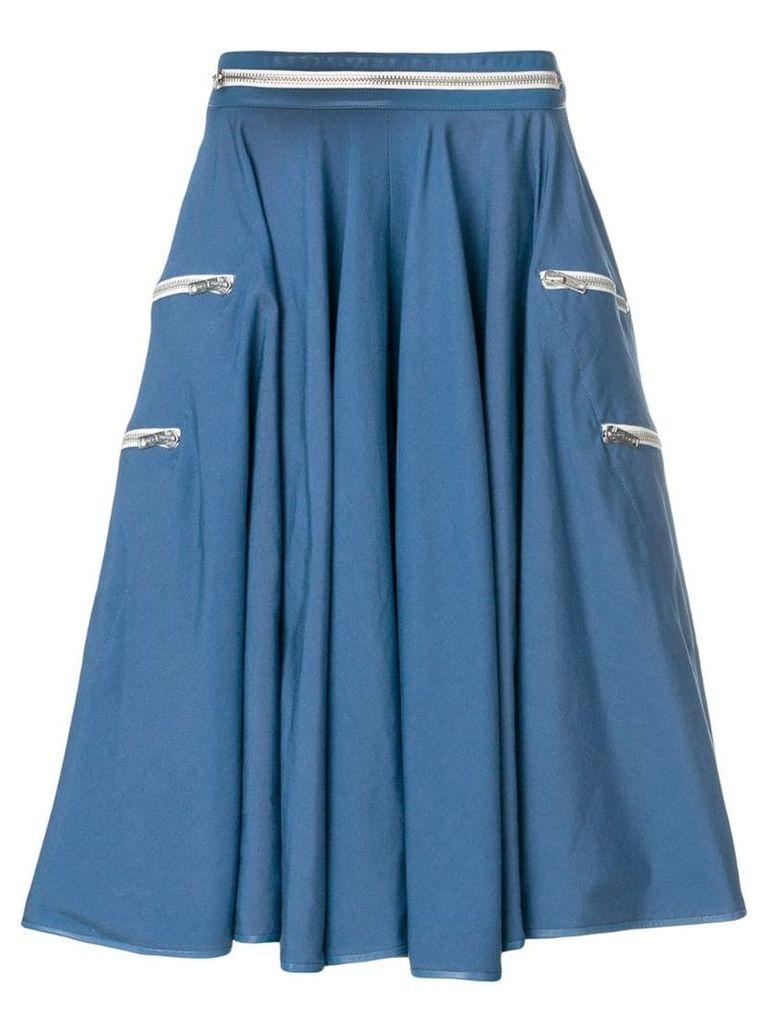 Calvin Klein 205W39nyc zip detail skirt - Blue