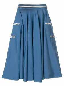 Calvin Klein 205W39nyc zip detail skirt - Blue