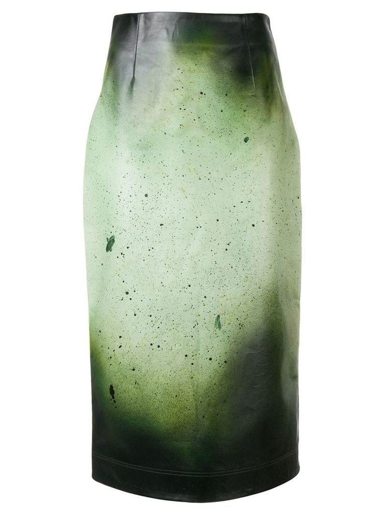 Calvin Klein 205W39nyc paint splatter skirt - Green