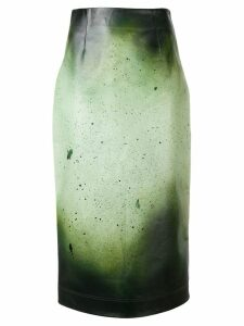Calvin Klein 205W39nyc paint splatter skirt - Green