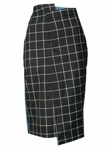 Monse plaid pencil skirt - Blue