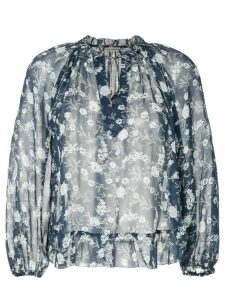 Ulla Johnson round neck floral print blouse - Blue