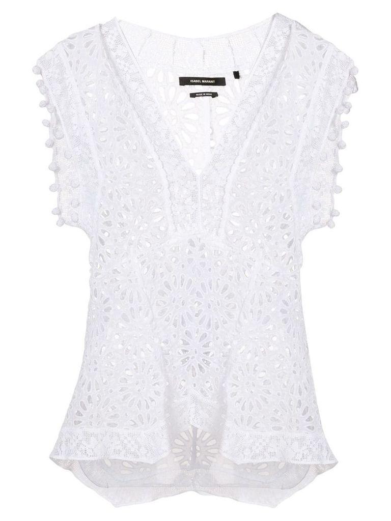 Isabel Marant Kerro perforated blouse - White