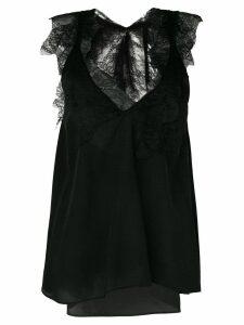 Giacobino lace inserts blouse - Black