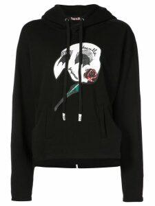 Haculla forgiveness cropped hoodie - Black