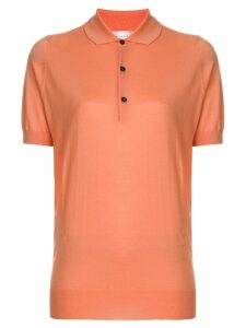 Victoria Beckham contrast button polo shirt - Yellow
