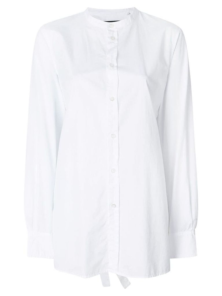 Department 5 asymmetric-hem shirt - White