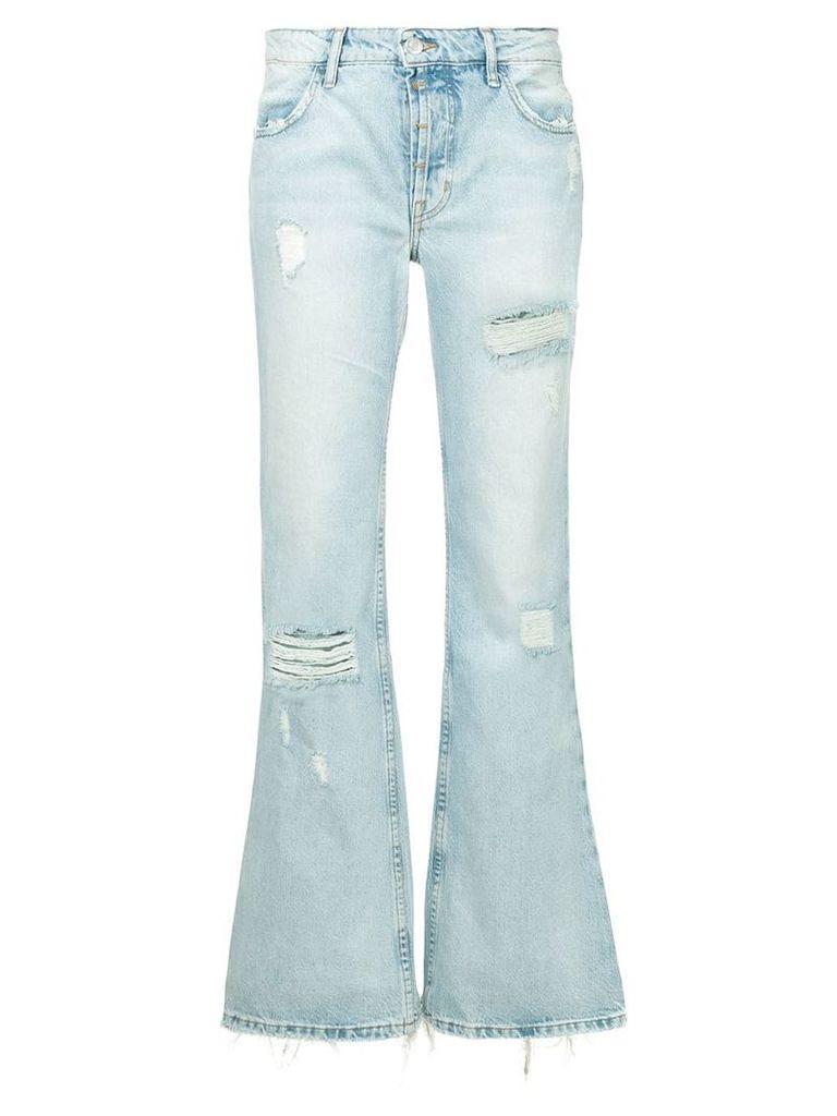 Adaptation distressed denim trousers - Blue