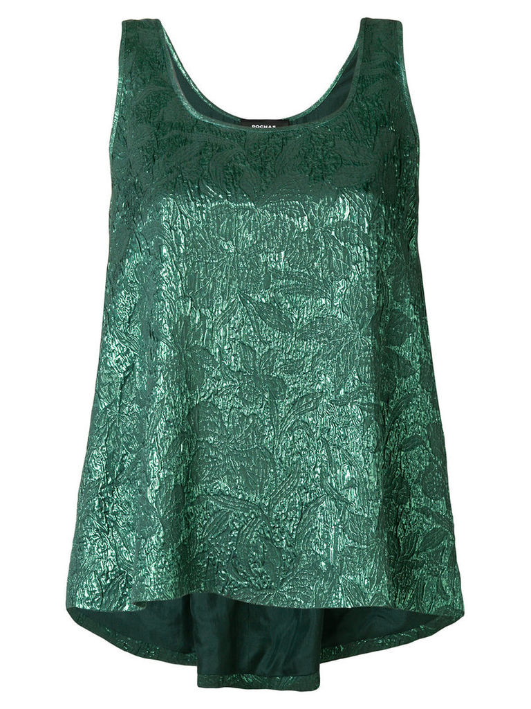 Rochas sheen textured tank top - Green