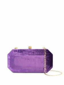 Tyler Ellis small Perry clutch - Purple